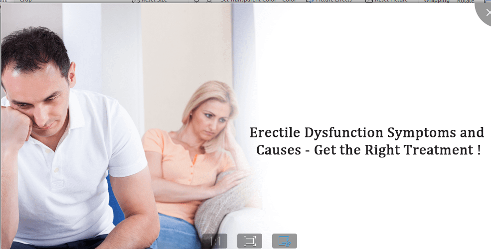 Erectile Dysfunction Symptoms and Cause