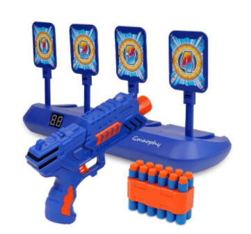 Digital Shooting Targets with Foam Dart Toy Shooting Blaster - Toy Weapons Collection