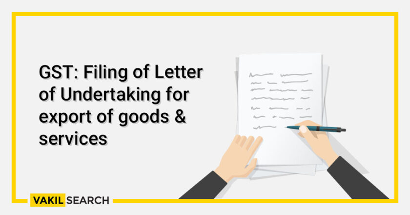 Letter Of Undertaking: The Relief From Taxes For The Exporters