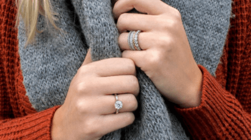 Rings on entirely different fingers