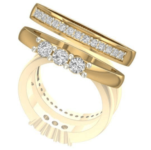 Trilogy ring from Shanti Jewel - Correct Way To Wear Wedding Rings