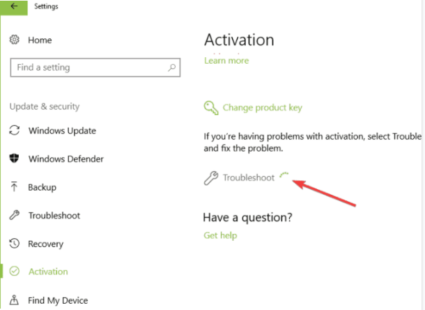 Using Activation Troubleshooter To Solve This Error Code