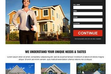 How to design an effective real estate landing page